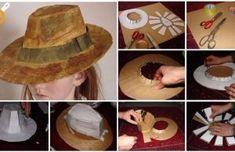 Kartonové létající klobouk - Jak vyrobit klobouk papírového klobouku