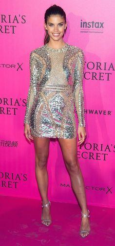 Sara Sampaio in Zuhair Murad attends the 2016 Victoria's Secret Fashion Show in Paris. #bestdressed