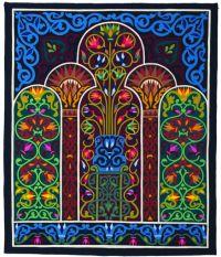 Lotus Columns Pharaonic by Hosam Al Farouk - Stitch Like an Egyptian: Tentmakers of Cairo