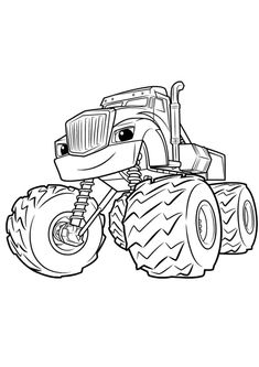 blaze and the monster machine coloring pages for kindergarten print. Blaze and The monster machine is a film that tells the story of a monster truck adventure called Blaze, the story is exciting. The story is always abo. Nick Jr Coloring Pages, Free Printable Coloring Sheets, Online Coloring Pages, Cartoon Coloring Pages, Coloring Pages To Print, Free Coloring Pages, Coloring For Kids, Coloring Books, Monster Truck Coloring Pages