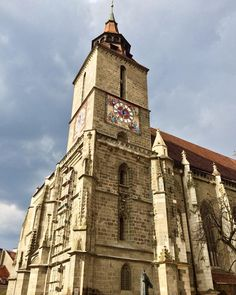 Brasov Romania, Black Church, I Want To Travel, Travel List, European Travel, Notre Dame, Big Ben, Clocks, Castles