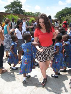 """Dosey Doe"" By: Elizabeth Nielsen. Caption: Some fun and games with the elementary school children. Program: KNUST. Location: KNUST Elementary School, Ghana"