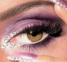 Jeweled eyes, Makeup