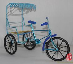 Reference for adult tricycle. Old Shanghai retro rickshaw model diy aluminum by NinjaDIY on Etsy,