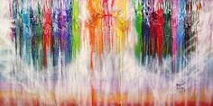 Melted crayon art; canvas prints $75