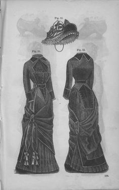 Godey's Lady's Book Volume 101 July To December 1880    Love the skirt drape!