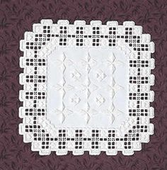 Ivory Square Doily Kit (Hardanger embroidery)