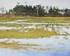 Chosen Field, Canada Geese by Joe Garcia Oil ~ 20 x 24