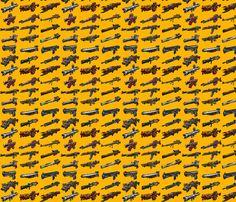 Borderlands 2 Weapons fabric by bm_design_studio on Spoonflower - custom fabric http://www.spoonflower.com/designs/3464361