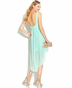 City Studios Juniors' Embellished High-Low Dress - Juniors Prom Dresses - Macy's