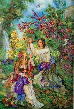 mahmoud farshchian paintings - http://www.persianpaintings.com
