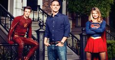 'Flash' & 'Supergirl' Team for Variety Cover; Is a TV Crossover Happening? -- 'The Flash' and 'Supergirl' producer Greg Berlanti joins stars Melissa Benoist and Grant Gustin to discuss the possibility of a crossover. -- http://www.tvweb.com/news/flash-supergirl-tv-crossover-photo