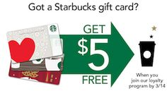 FREE 5 Dollar Starbucks Credit for New My Starbucks Rewards Members – EXP 3/14/2013