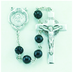 Regina's Catholic Gifts - 7mm Black Cocoa Bead Sterling Rosary Bxd , $182.00 (http://www.reginascatholicgifts.com/7mm-black-cocoa-bead-sterling-rosary-bxd/)