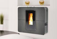 Slimquadro 9 Plein Feu sur un poêle à granules ultra mince et ultra moderne #poele #stove #pellet_stove #design