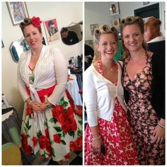 Hair by me (Sarah's Doo-Wop Dos) at Betty's the Official Goodwood Revival Hair & Beauty Salon