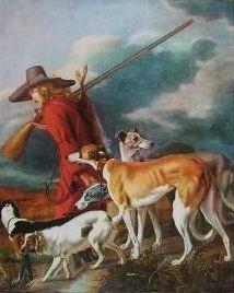 """The Hunter""  by Adriaen Cornelisz Beeldemaeker  1625-1689"