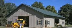 Suburban Building Profile Use: Hobby farm storage building for excavation equipment Size: 48' x 64' x 12' pole-barn storage
