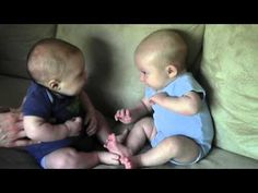Twins Notice Each Other For The First Time! Cuteness Overload!