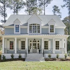 """132 Likes, 8 Comments - Allen Tate Companies (@allentatecompany) on Instagram: """"Love the fresh colors on this incredible DJF Builders home in Raleigh,NC. Check it out today! 1418…"""""""