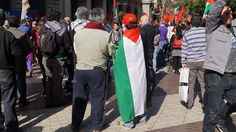 Palestina Free, gritaron en el centro de Santiago.