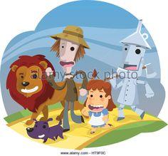 Wizard of Oz, vector illustration cartoon. - Stock Image