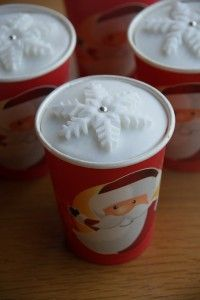 Paper Cup Christmas Cakes - so cute! I really need to remember to do this next…