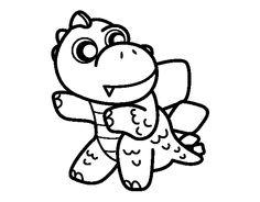 Dibujo de Estegosaurio para colorear Pictures To Draw, Godzilla, Charlie Brown, Doodles, Activities, Drawings, Fictional Characters, Art, Ideas