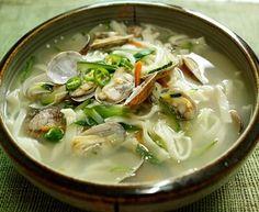 "Korean Food   Kalguksu   Wheat Noodle Soup (""Knife Soup"")  Go on, Try it!!!"