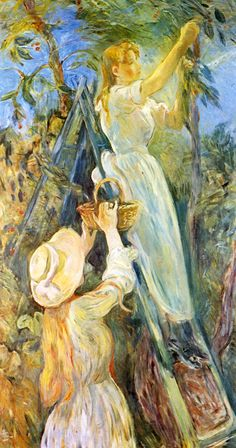 1891 The Cherry tree,  154x80cm. Berthe Morisot