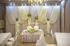 оформить зал на свадьбу в белом цвете
