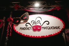 Maddie's Masquerade Party Sign