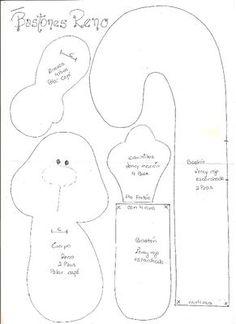 Moldes Para Artesanato em Tecido: Rena Fofinha com Moldes