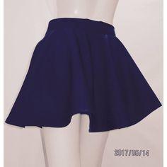 Navy Circle Skirt Mini Skater Skirt Full Circle Skirt~High... ($24) ❤ liked on Polyvore featuring skirts, mini skirts, grey, women's clothing, high waisted long skirts, long summer skirts, long flared skirt, grey pleated skirt and navy mini skirt