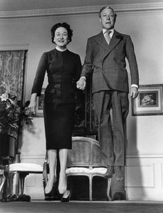 "Duke & Dutchess of Windsor, 1956 in ""Jumpology"" by Philippe Halsman"