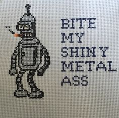 Binder Futurama cross stitch