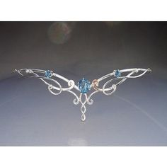 Blue and silver circlet