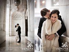 Winter Wedding, Bryant Park Wedding, New York Public Library, www.feminaphoto.com