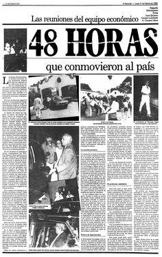 Viernes negro. Artículo publicado en El Nacional, el día 21 de Febrero de 1983 , bajo el título: 48 HORAS que conmovieron al país.