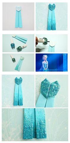 Frozen Elsa Dress Origami