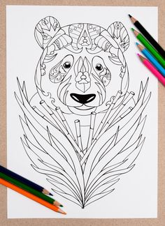PANDA #COLOURING PAGE  Whether youre looking for some colouring therapy or when…