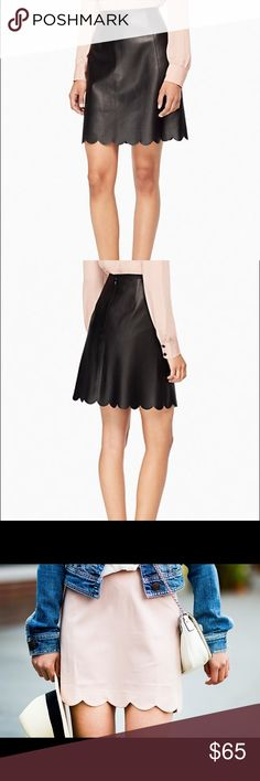 Kate spade leather scallop skirt Great condition! Perfect for summer! Im selling the blush colorway kate spade Skirts Mini