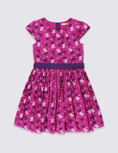 ca6c1fcc3f J by Jasper Conran Girls  pink floral print textured dress ...