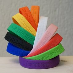 Personalized rubber wristband rubber by SiliconeBracelets WristbandBuddy https://www.wristbandbuddy.com/personalized-wristbands