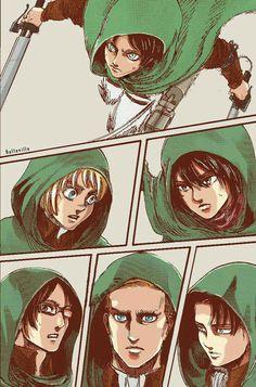 Eren | Armin | Mikasa | Hanji | Erwin | Levi | Shingeki no Kyojin | Attack on titan | SNK