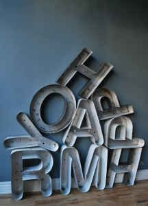I love letters in decorating!  These vintage marquee letters would be a fun addition to any decor in my opinion.