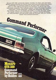 Australian Muscle Cars, Aussie Muscle Cars, Poster Ads, Car Posters, Holden Kingswood, Holden Australia, Holden Monaro, Family Car Decals, Sports Sedan