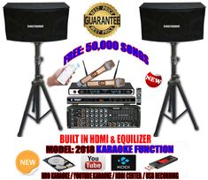 singtronic complete karaoke system package special hard driver over 50 000 songs hdmi direct 79 Professional Karaoke Machine, Karaoke Mixer, Free News, Better One, Equipment For Sale, Describe Yourself, Candid, Love Her, Singing