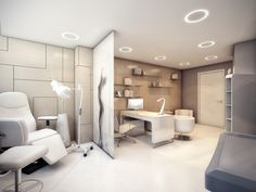 Medical-office-interior-design - Stylish Medical Surgery Clinic Design – View Home Trends Clinic Interior Design, Spa Interior, Clinic Design, Modern Interior Design, Home Design, Wall Design, Medical Office Interior, Medical Office Design, Healthcare Design
