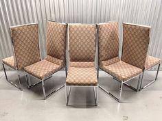 6 Milo Baughman Chrome Dining Chairs For Dia  | eBay